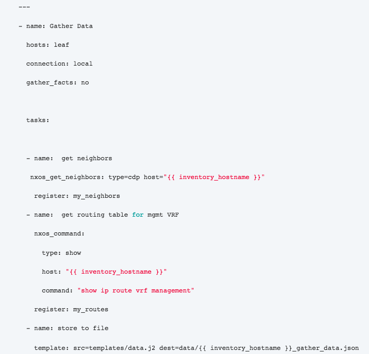 Using Ansible 2 2 to program Cisco Nexus switches from the